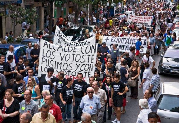 Imatges d'Andreu Fernandez. Manifestació lluites social de Gramenet 18 de juny 3