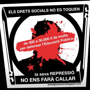 De 300 a 30.000 euros de multa per manifestar-se per defensar l'educaciópública