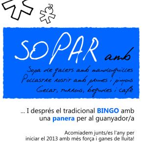 28 de desembre, SOPAR al Lokal Social Krida. No ésbroma!